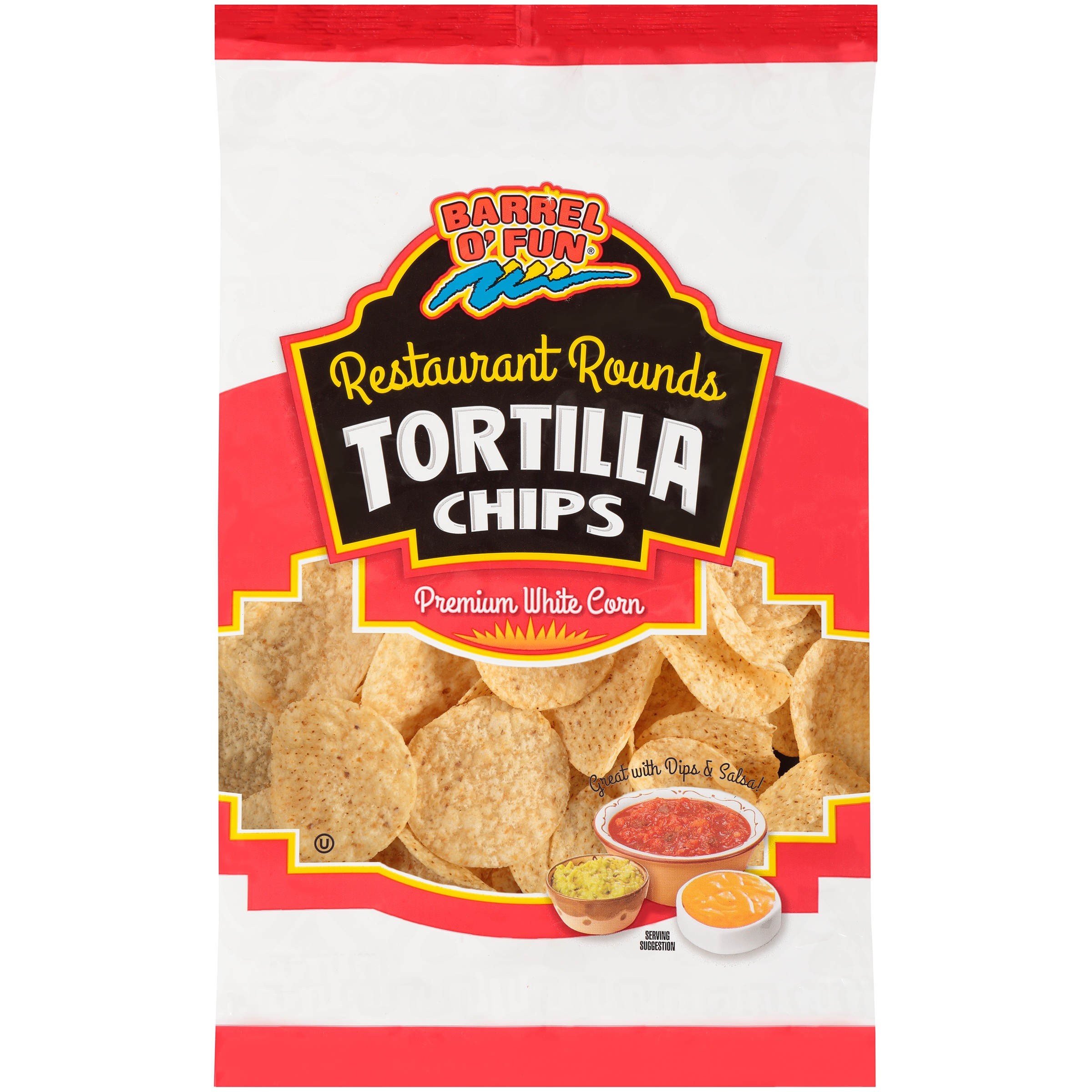 Barrel O' Fun® Restaurant Rounds Premium White Corn Tortilla Chips Bag