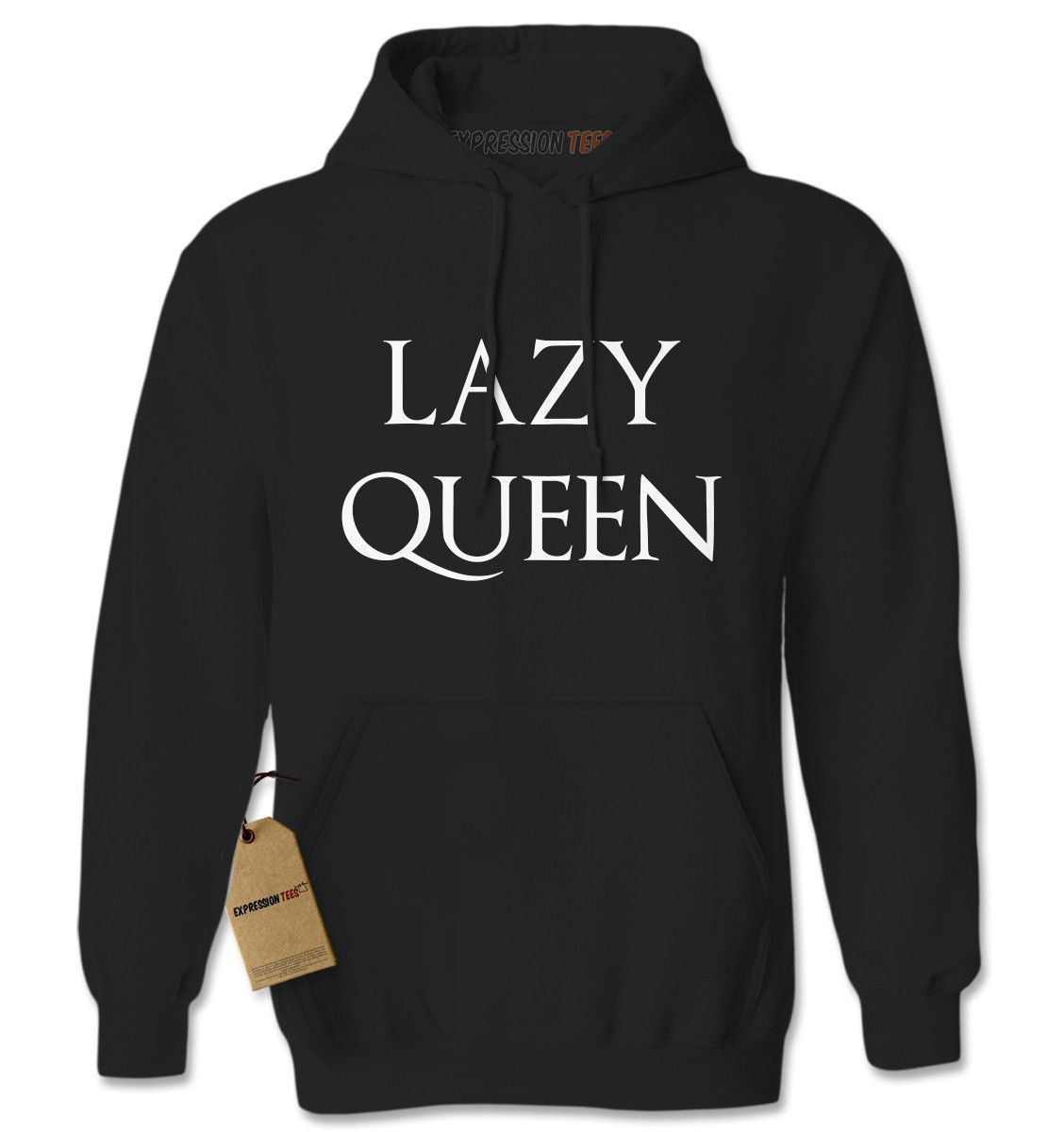 Lazy Queen Adult Hoodie Sweatshirt