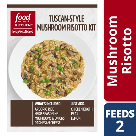 (2 Pack) Food Network Kitchen Inspirations Tuscan-Style Mushroom Risotto Meal Kit, 6.2 oz Box (Food Network Halloween 2017)