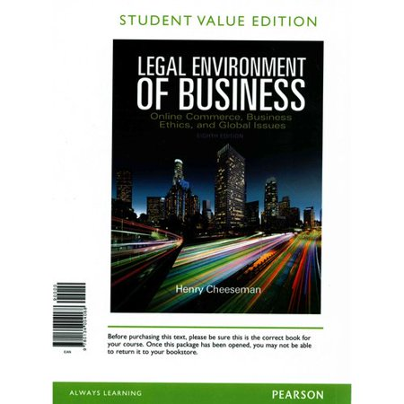 Legal Environment Of Business  Online Commerce  Ethics  And Global Issues