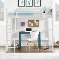Your Zone Collection Twin Wood Loft Bed, White