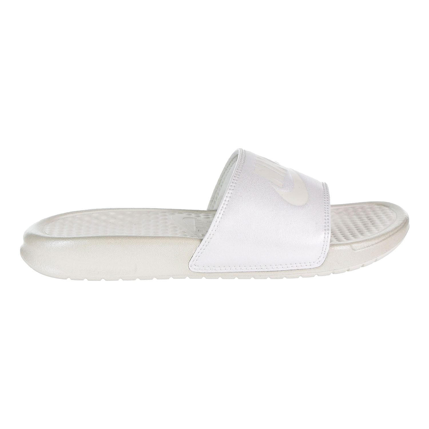 95a13a92dbb9f0 Nike - Nike Benassi JDI Metallic QS Women s Slides Metallic Summit White Summit  White aa4149-100 - Walmart.com