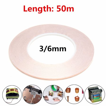 3/6mm x 50m Copper Foil Tape Conductive Guitar Shielding Self Adhesive Barrier