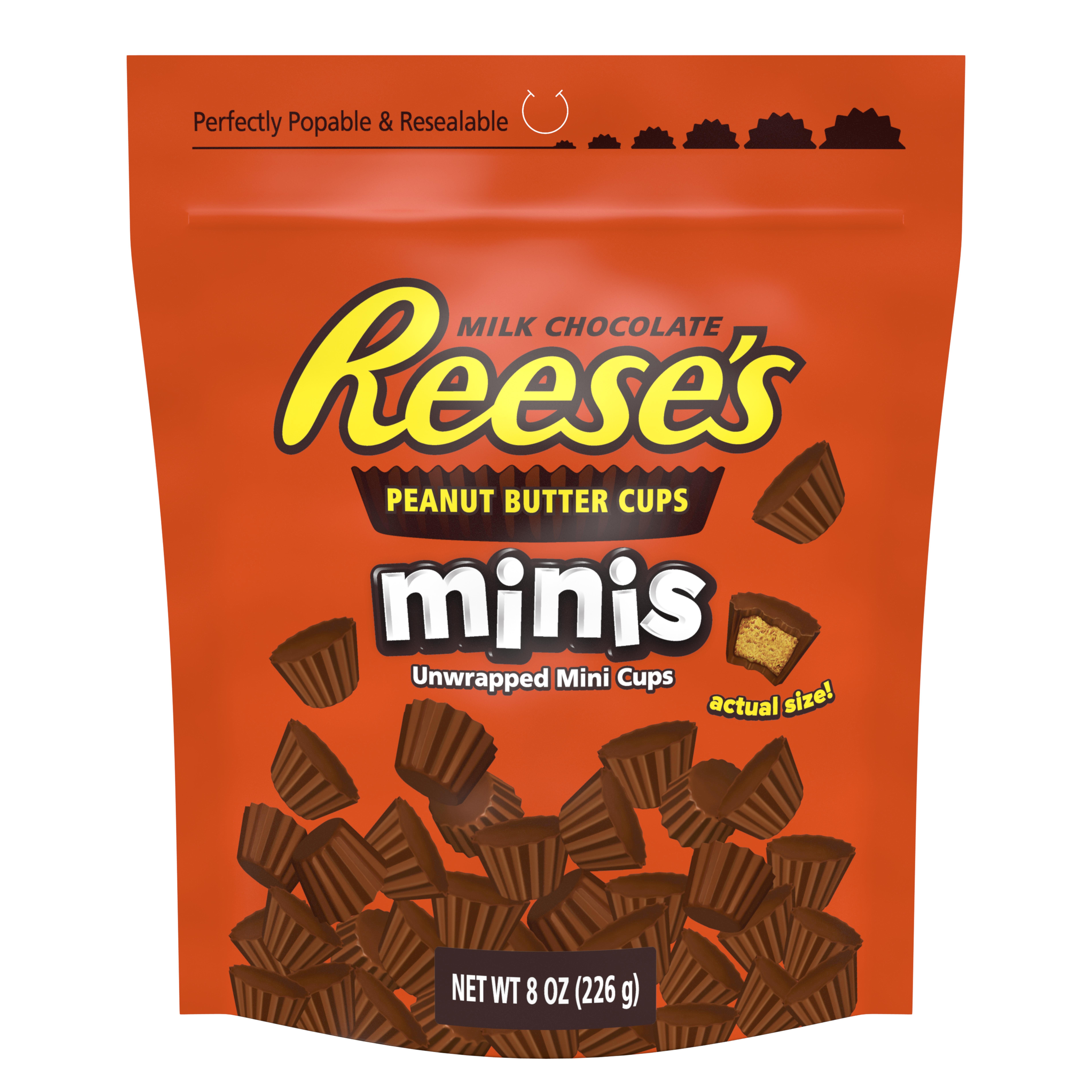 Reese's, Peanut Butter Cups Chocolate Candy Minis, 8 Oz, 4 Ct
