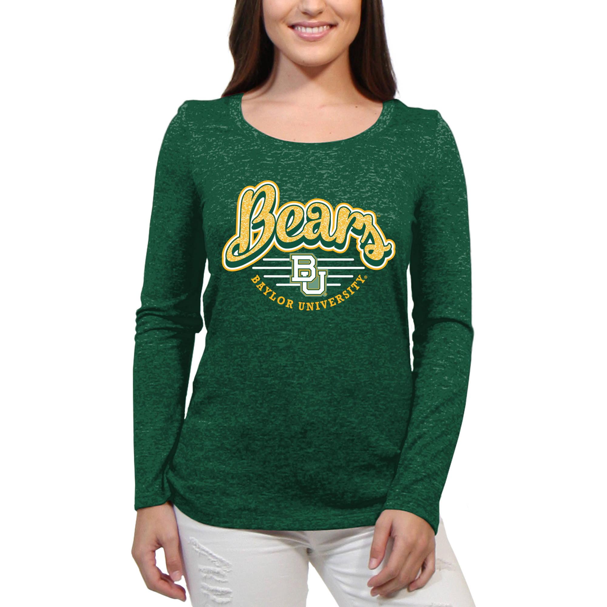 Baylor Bears Funky Script Women'S/Juniors Team Long Sleeve Scoop Neck Shirt