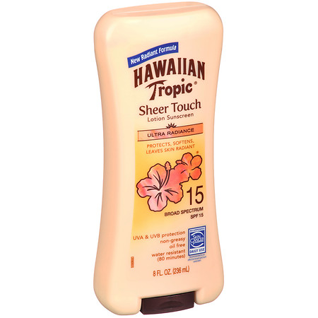 Hawaiian Tropic Sheer Touch Lotion Sunscreen, SPF 15 8.0 fl oz(pack of 2)