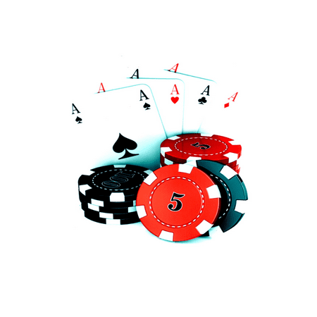 Casino Aces and Poker Chips Birthday Edible Icing Image Cake/Cupcake Topper!!! - Poker Cake Ideas