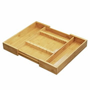 Furinno DaPur Bamboo Expandable Drawer Organizer with Cutlery Storage