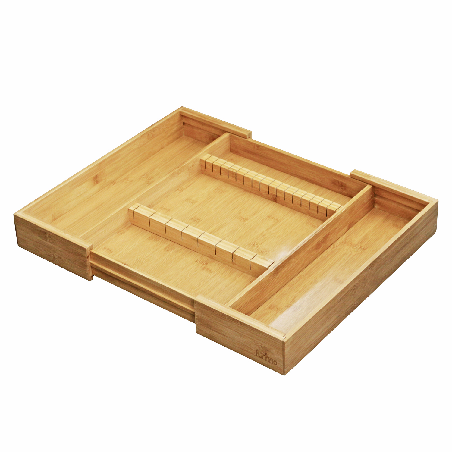 Furinno DaPur Bamboo Expandable Drawer Organizer with Cutlery Storage FK8720