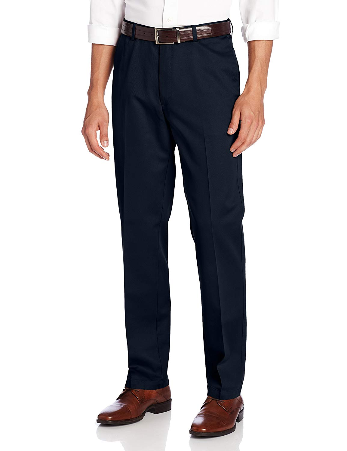 Haggar Mens Work to Weekend Hidden Expandable Waist Straight Fit Pant