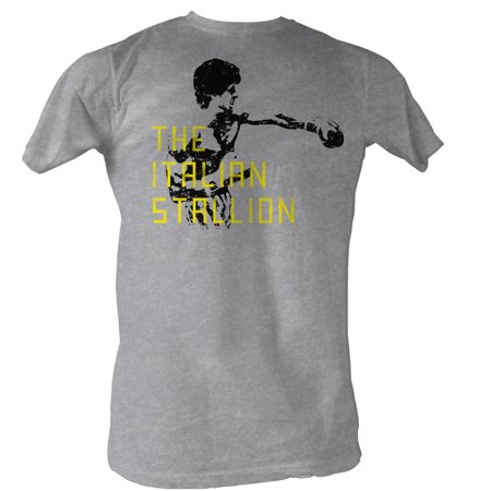 Rocky MGM Movie The Staillion Block Text Adult T-Shirt Tee - image 1 of 1
