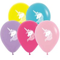 10 Unicorn Balloons Assorted Colors 11""