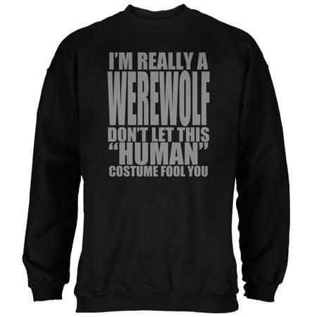 Halloween Human Werewolf Costume Mens Sweatshirt