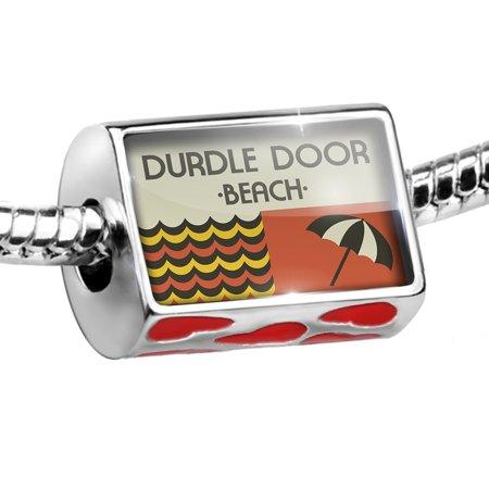 Bead US Beaches Retro Durdle Door Beach Charm Fits All European Bracelets (Hippie Door Beads)