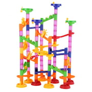 Ccdes DIY Balls Track Toy, Construction Marble Race Run Maze Balls Track Building Blocks Baby Kid Gift Educational Toy, Marble Race Toy