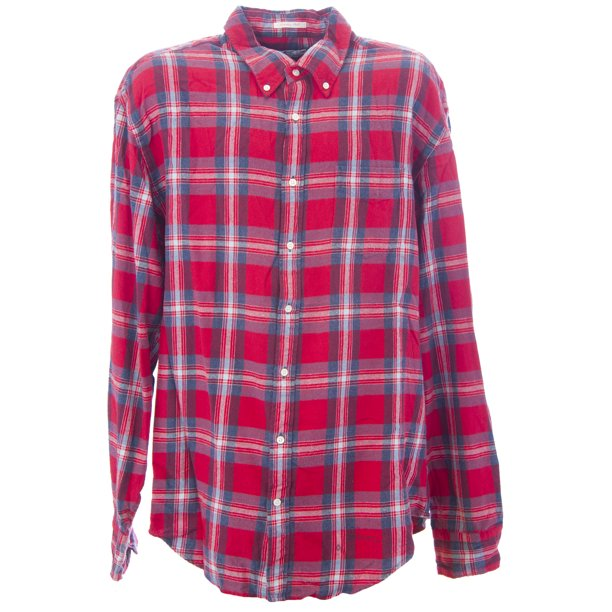 Gant Men's Country Twill Checkered Button-Up Shirt Red
