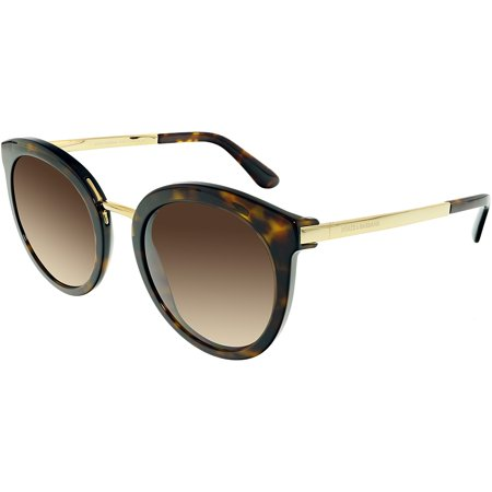 Dolce & Gabbana Women's Gradient DG4268-502/13-52 Brown Round Sunglasses Brn 1 Brown Sunglasses