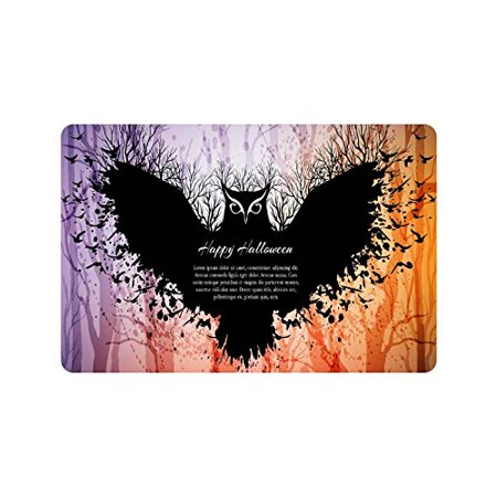 CADecor Door Mat Home Decor Happy Halloween Flying Owl Indoor Outdoor Entrance Doormat 23.6x15.7 - Halloween Entrance
