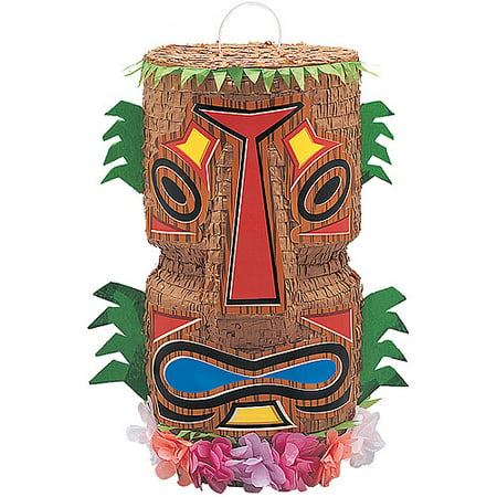 Tiki Pinata, Brown, 9in x 18in