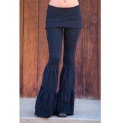 Autumn Women Pants Bell Bottom Slim Wide Leg Flare Pants Stretch Flare Gypsy Palazzo Pants Trousers