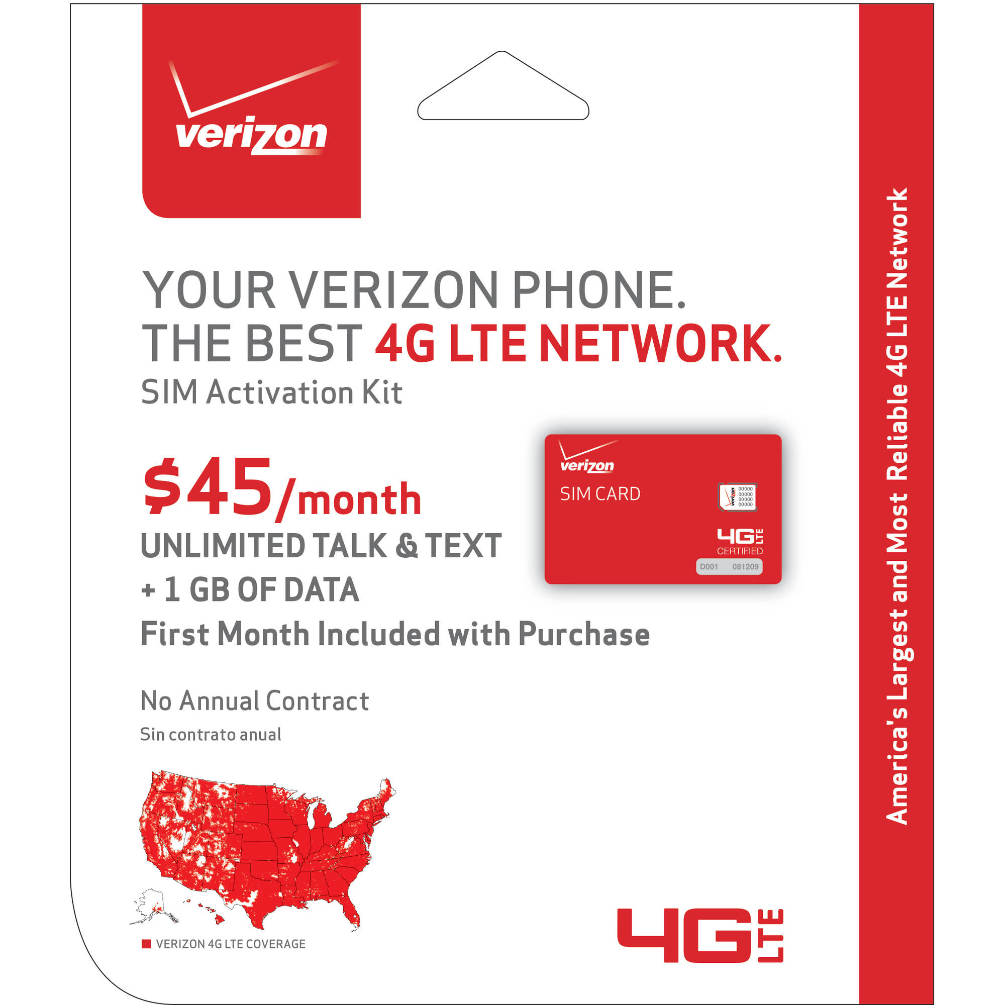 Verizon BYOD 4FF SIM Card Kit
