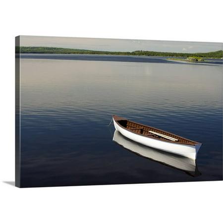 Great Big Canvas John Sylvester Premium Thick Wrap Canvas Entitled Canoe On Gander River  Gander Bay  Newfoundland And Labrador  Canada