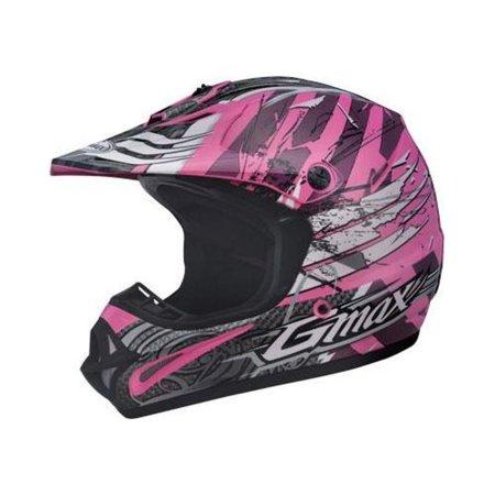 G-Max G046008 Visor for GM46X Helmet - Shredder Pink/White - - Gm46x 1 Motorcycle Helmet