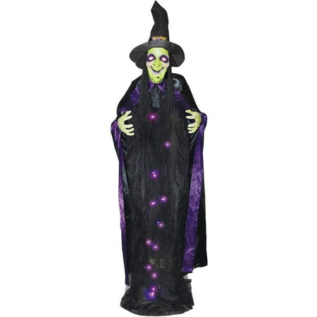 6' Witch with Sound Light-up Halloween Decoration