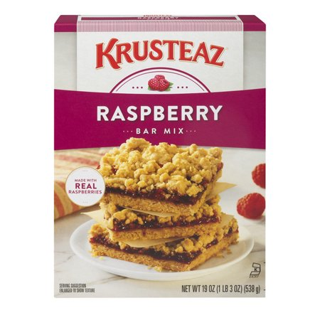 (12 Pack) Krusteaz Supreme Raspberry Dessert Bar Mix, 19oz (Raspberry Crisp)