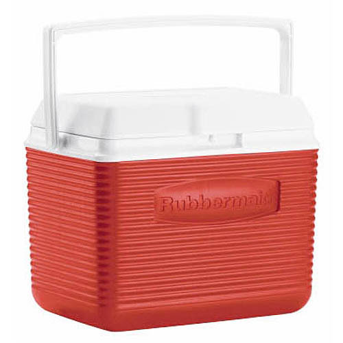 Rubbermaid FG2A1104MODRD 10 Quart Classic Red Victory Personal
