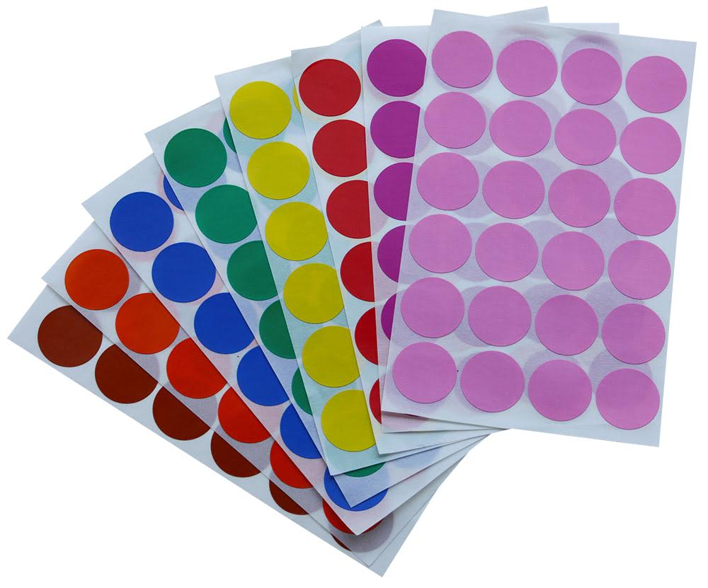 Color Label Stickers 1 Inch 25 Mm Colored Dots In Green