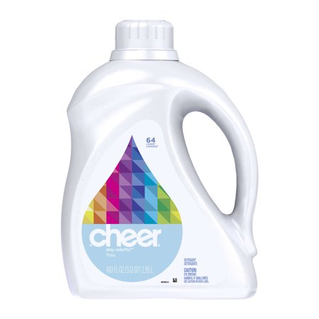 Cheer Free Liquid Laundry Detergent, 64 Loads, 100 Oz