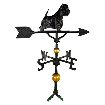 Deluxe Black West Highland White Terrier Weathervane - 32 in.