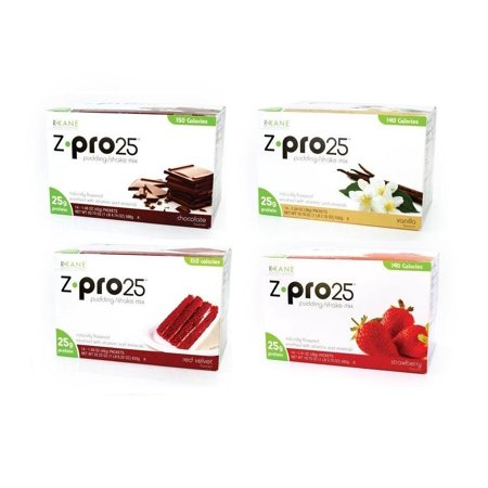 R-Kane Nutritionals Z-Pro25 High Protein Meal Replacement Pudding and Shake - Jumbo Variety Pack ()