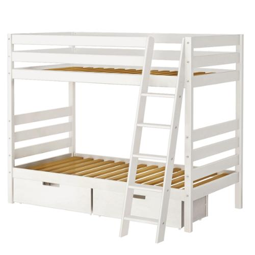 Superbe Maxwood Furniture Inc Bunk Bed With Angle Ladder And Storage Drawers