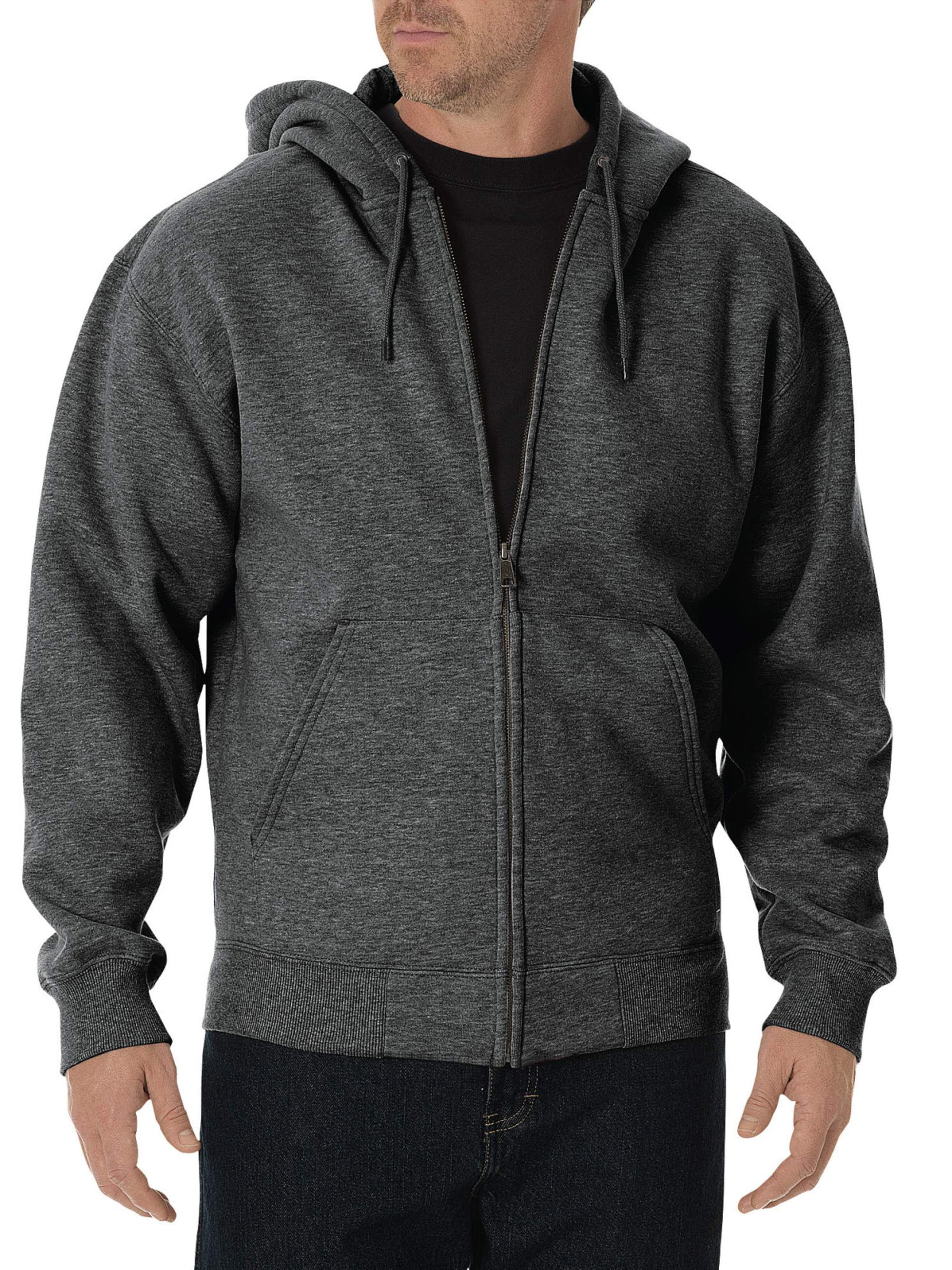 Big and Tall Men's Midweight Fleece Full Zip Hoodie