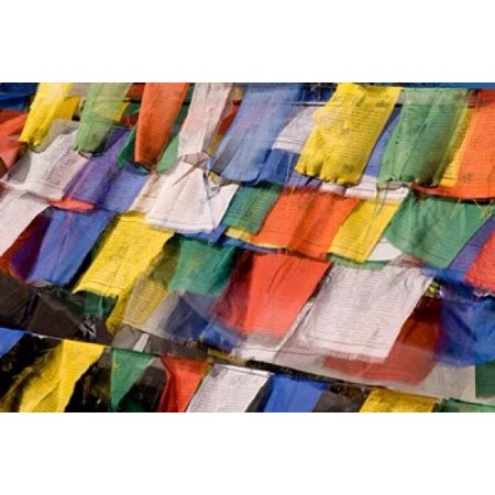 Prayer Flags at Dochu La Bhutan Canvas Art - Howie Garber DanitaDelimont (17 x 11)