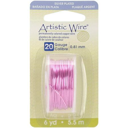 Beadalon Artistic Wire Dispenser 6 Yards/Pkg-Rose 20 Gauge