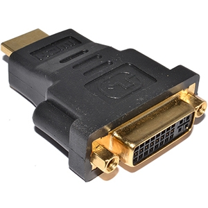 HDMI TO DVI ADAPTER M/F SINGLE LINK HDMI MALE TO DVI FEMALE