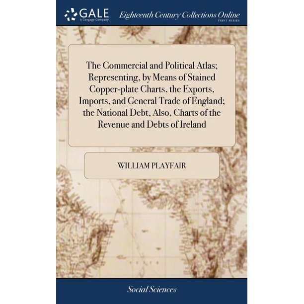 The Commercial and Political Atlas; Representing, by Means of Stained Copper-Plate Charts, the Exports, Imports, and General Trade of England; The National Debt, Also, Charts of the Revenue and Debts
