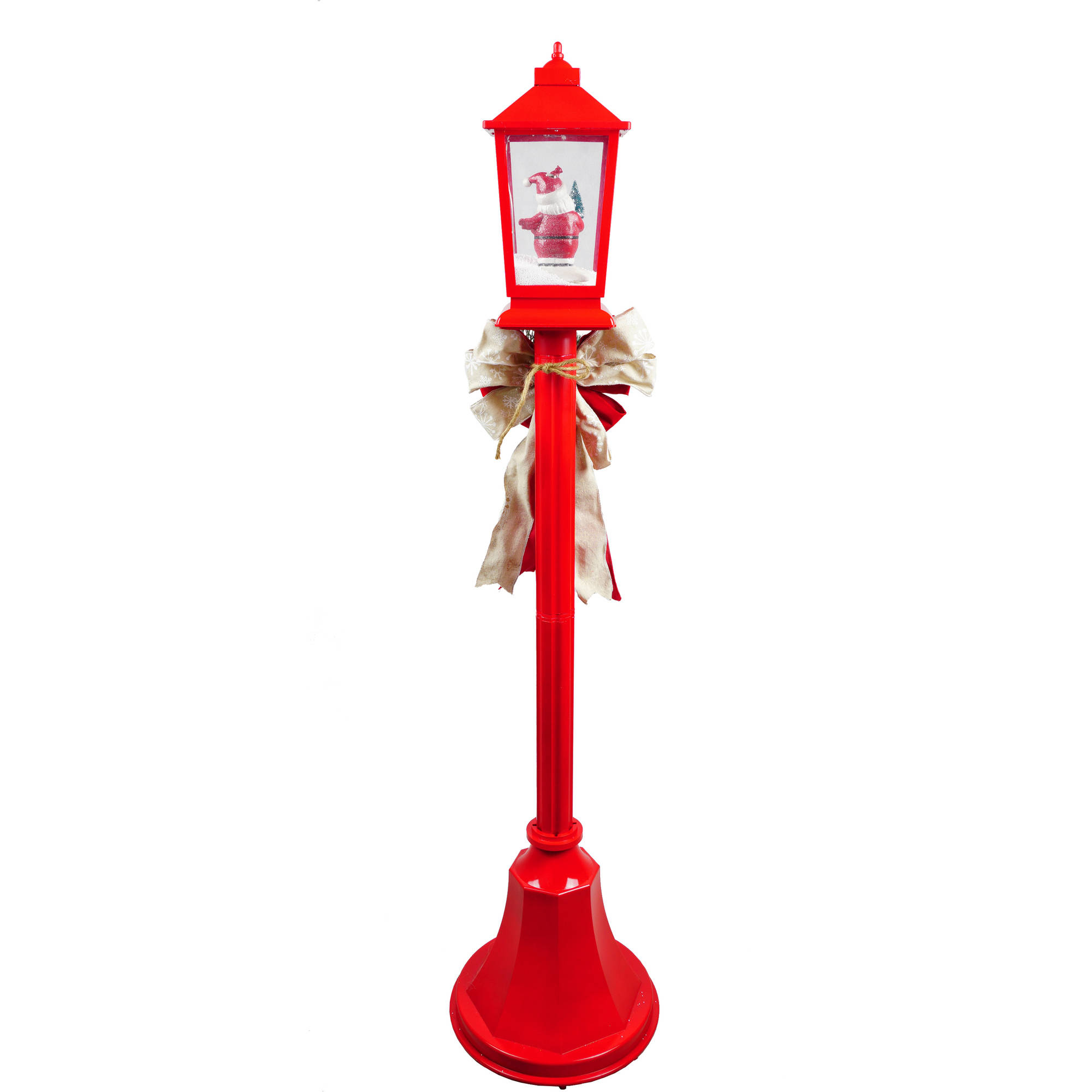 Holiday Time Christmas Lamp Posts With Snow Blowing Scenes Clear ...