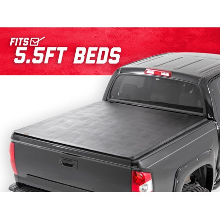 Rough Country Soft Tri-Fold Fits 2017-2019 [ Nissan ] Titan 5.5 FT Bed Truck Tonneau Cover 44816550 Soft Folding