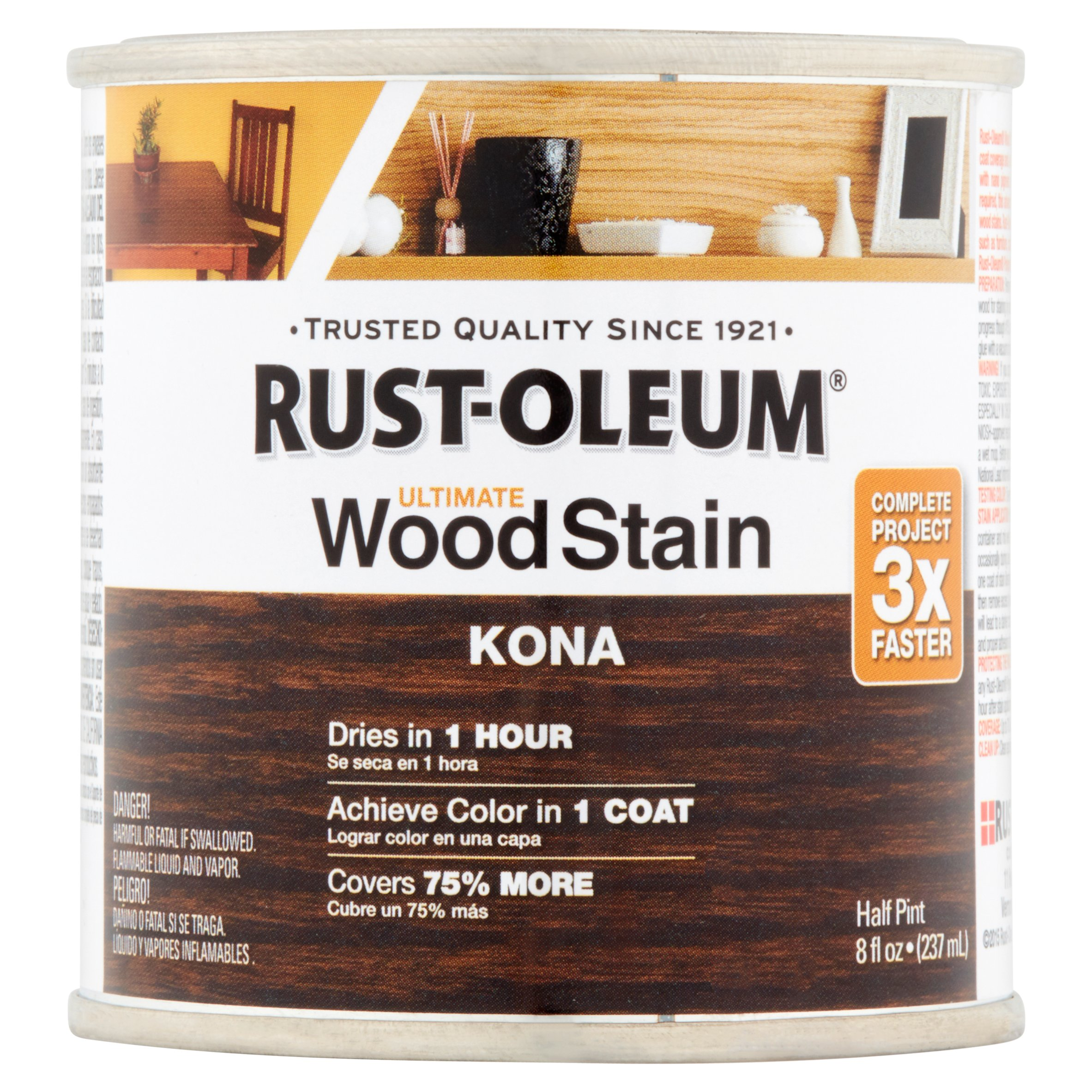 Rust-Oleum Kona Ultimate Wood Stain, 8 fl oz