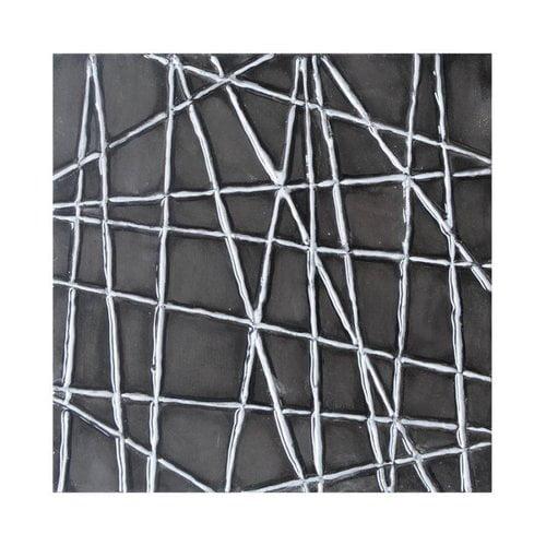 Sunpan Imports A0084 Black Web Canvas Art