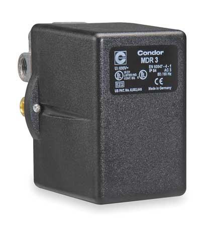 CONDOR USA, INC 31SGXEXX Pressure Switch, 3PST, 60/80 psi