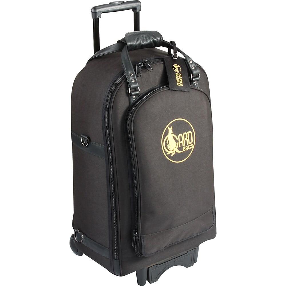 Gard Quad Trumpet Wheelie Bag 16-WBFSK Black Synthetic w/ Leather Trim