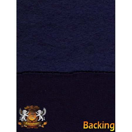 Sweatshirt Cotton Fleece Navy Fabric / 58