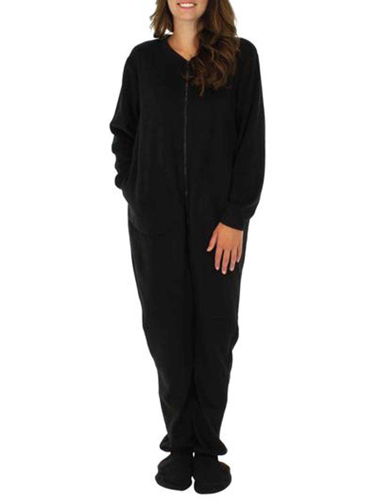PajamaMania Women's Sleepwear Fleece Footed Onesie Pajamas ...