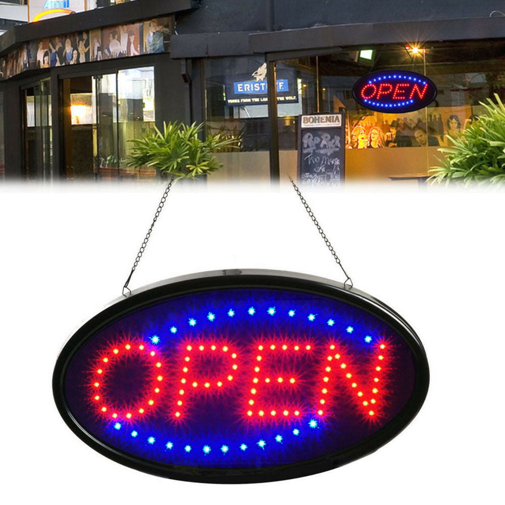 Ultra Bright LED Neon Light Animated Motion with ON//OFF Store OPEN Business Sign