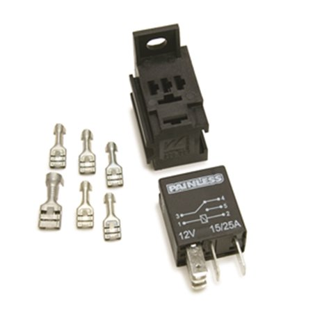 Painless Performance 80136 PAN80136 MICRO RELAY W/BASE & TERMINALS